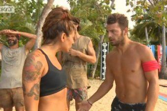 Χαμός στο Survivor: Γιατί ο Ντάνος κλώτσησε την Ευρυδίκη στον κ@λο [video]